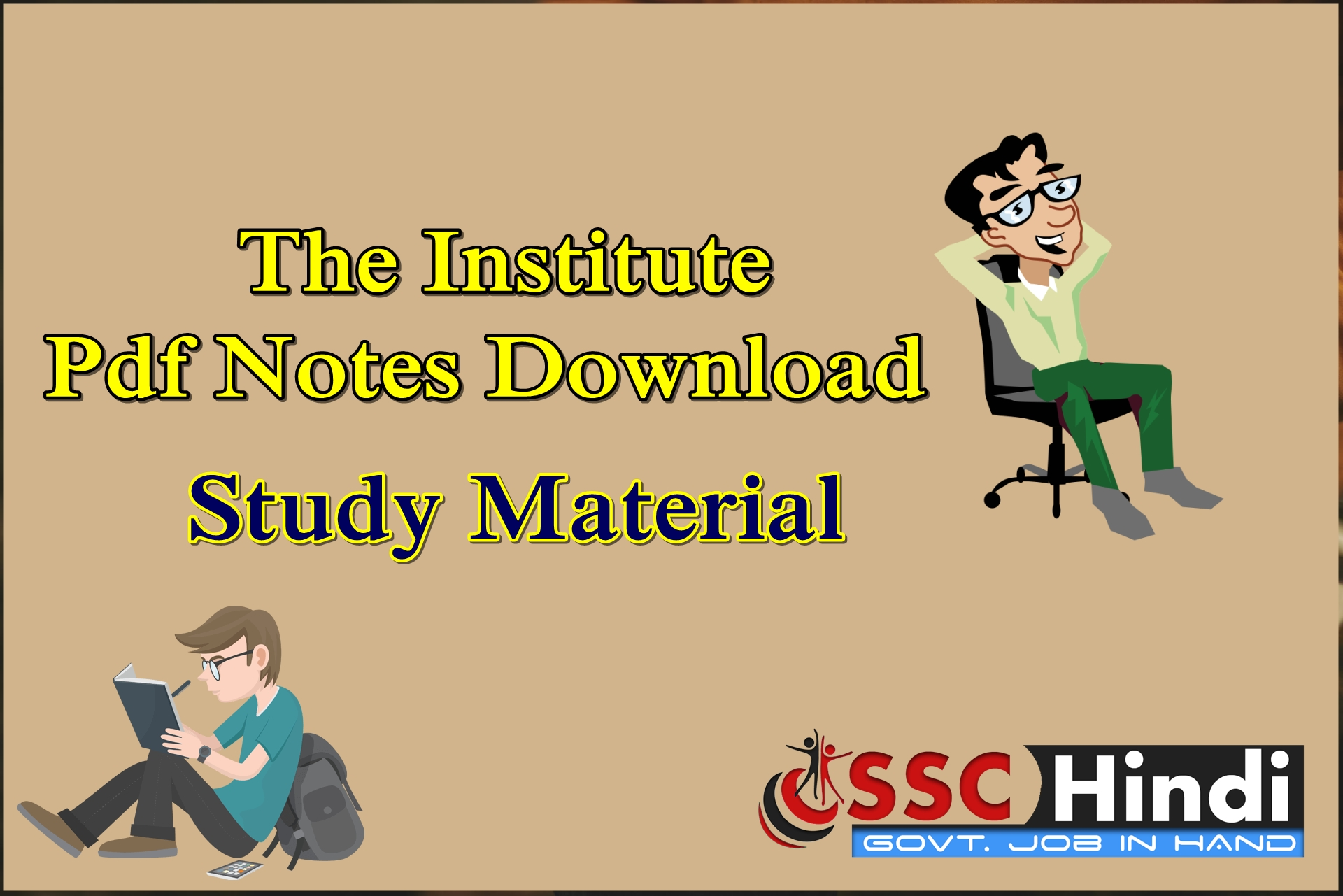 The Institute Pdf Notes Download : SSC Study Material - SSC