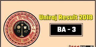 Rajasthan-Univresity-UniRaj-BA-3-Third-Result-2018