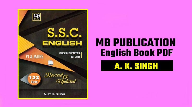 MB Publication English Book PDF By A  K  Singh Download - SSC Hindi