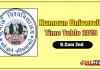 Kumaun University B.Com 2 Year Time Table 2019