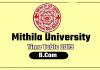 Mithila University LNMU B.Com 1st 2nd 3rd Year Time Table 2019