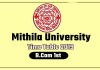 Mithila University LNMU B.Com 1st Year Time Table 2019