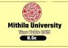 Mithila University LNMU B.Sc 1st 2nd 3rd Year Time Table 2019