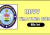 RDVV [Rani Durgavati University] BSc 1 Time Table 2019