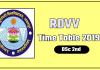 RDVV [Rani Durgavati University] BSc 2 Time Table 2019