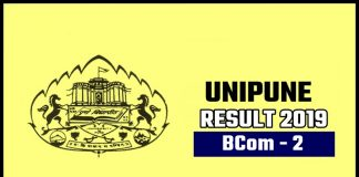 Unipune BCom 2nd Year Result 2019