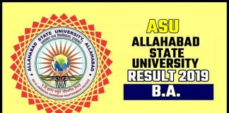 ASU BA 1st 2nd 3rd Year Result 2019 Allahabad State University