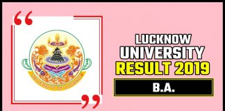 LU BA 1st 2nd 3rd Year Result 2019 Lucknow University