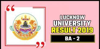 LU BA 2nd Year Result 2019 Lucknow University