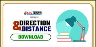 Direction & Distance Questions PDF In Hindi
