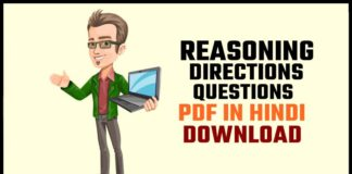 Reasoning Directions Questions Pdf In Hindi Download